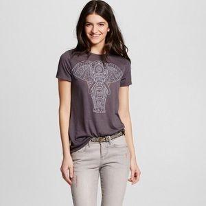 3/$15 Zoe + Liv gray elephant tee L